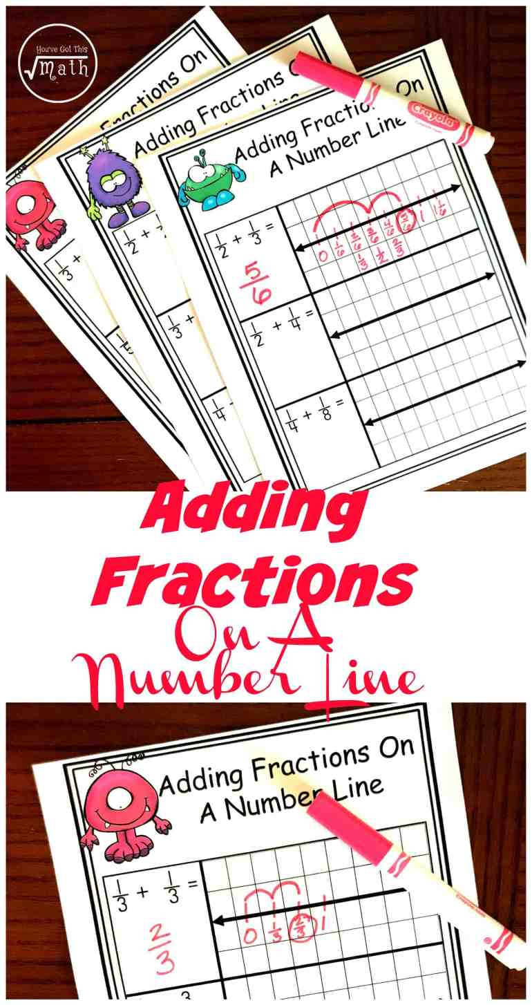 free worksheets for adding fractions with unlike denominators on a number line. Black Bedroom Furniture Sets. Home Design Ideas