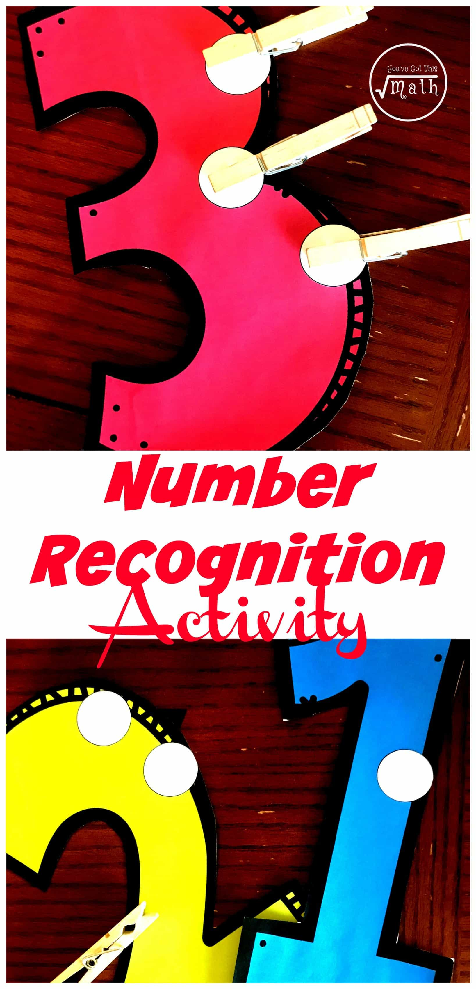 This FREE number recognition activity gets children recognizing numbers, counting, and strengthening their fine motor skills.