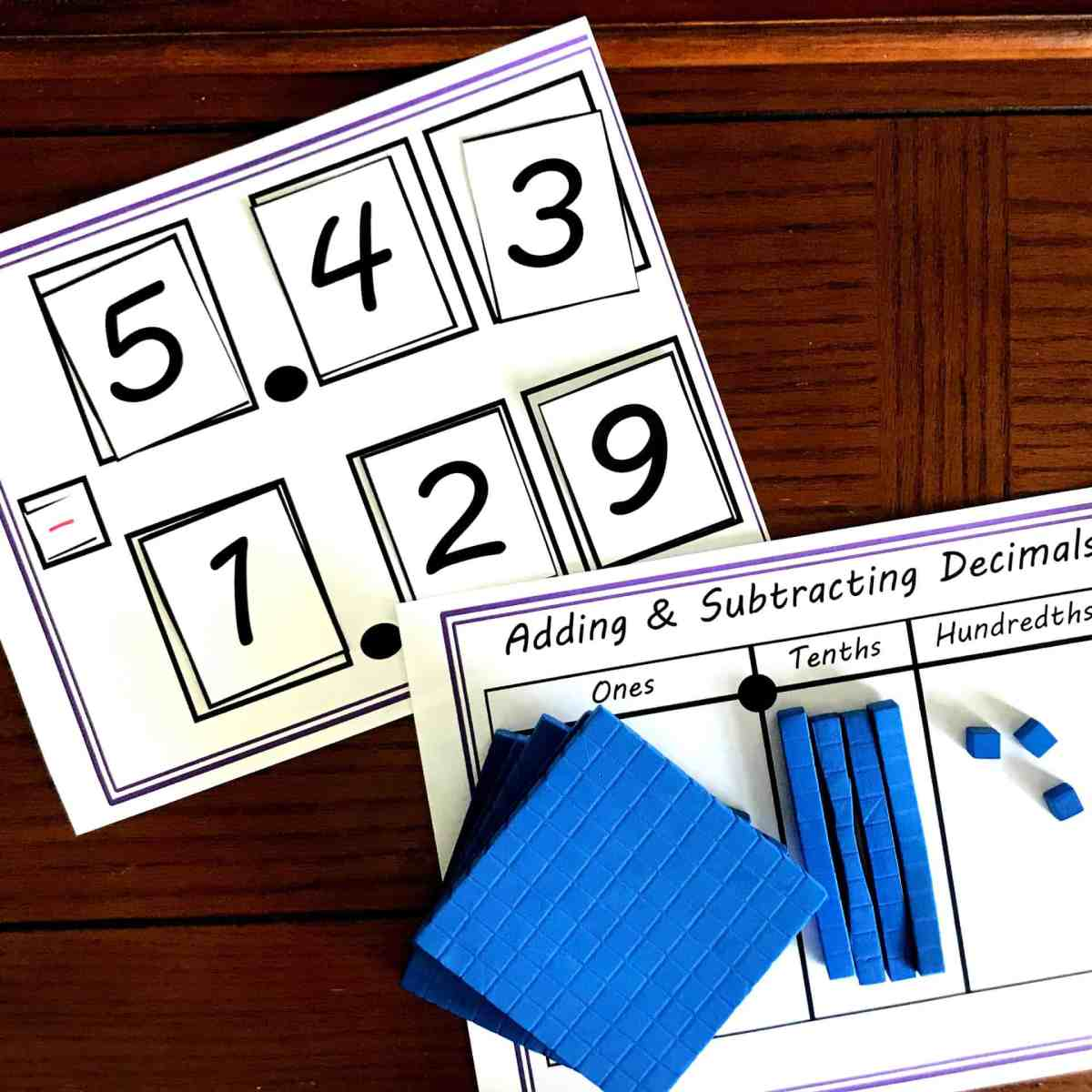 Practice Addition and Subtraction Of Decimals With This Hands-On Activity