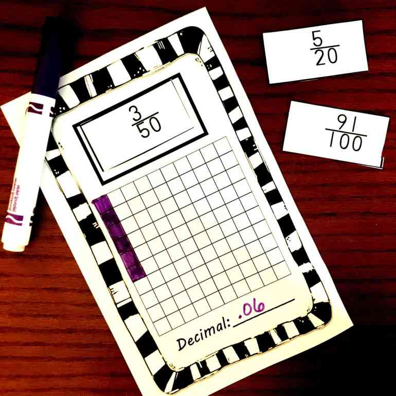 This is a graphic of Crafty Printable Decimal Games