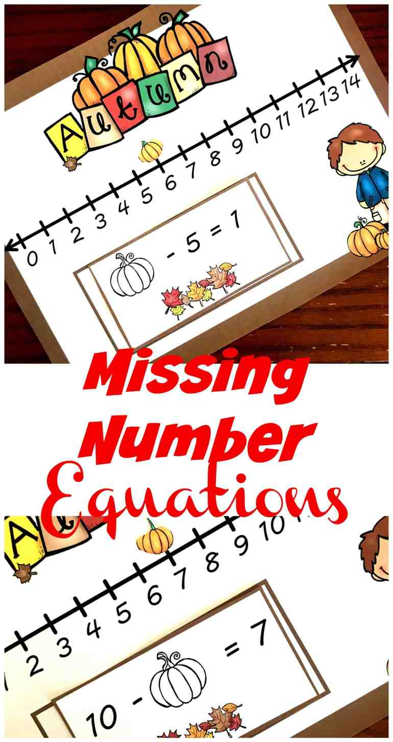 This fill in the missing number activity is a fun way to practice this skill. The children use number lines to find missing addends, subtrahend, or minuend.