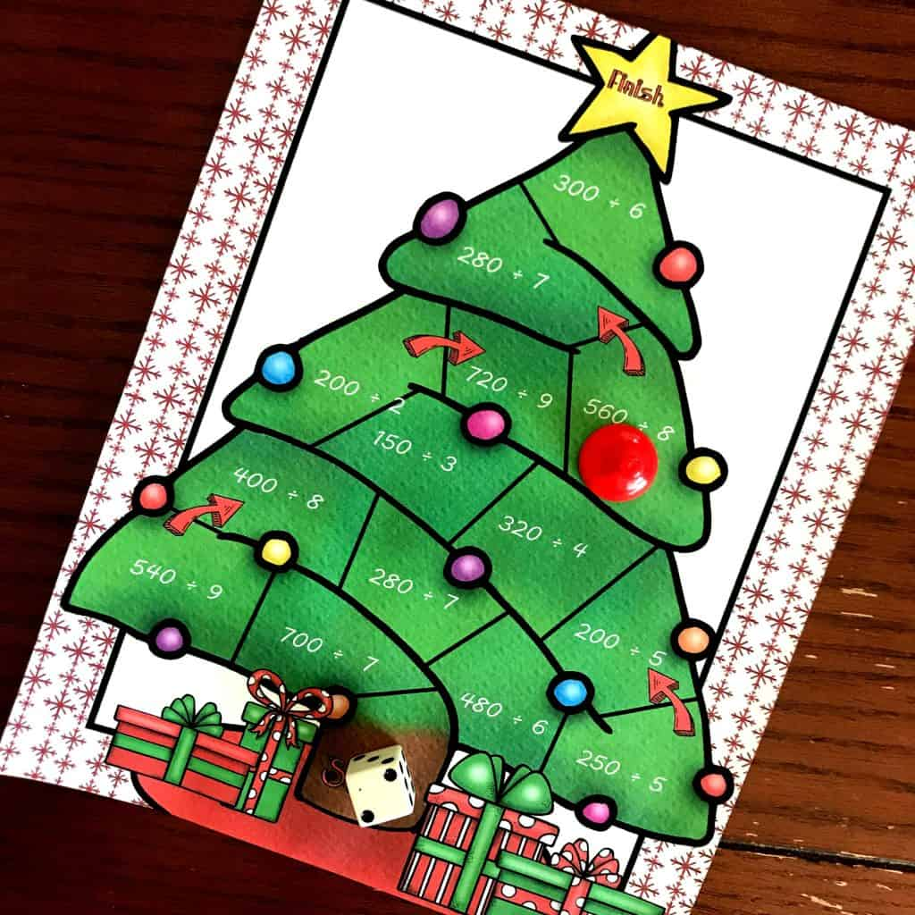 Free Christmas Game For Dividing Multiples Of 10 By A