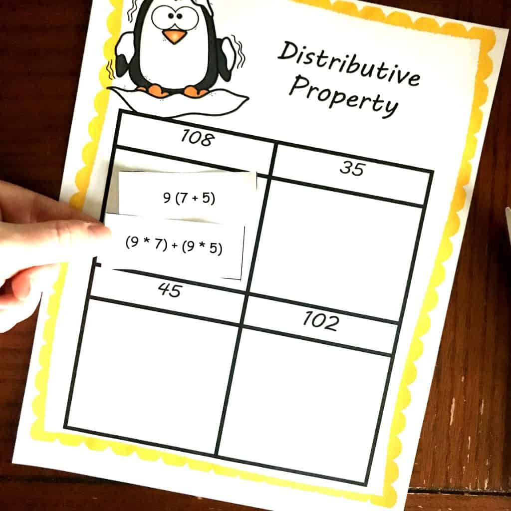 Three Free Distributive Property Worksheets With A Winter