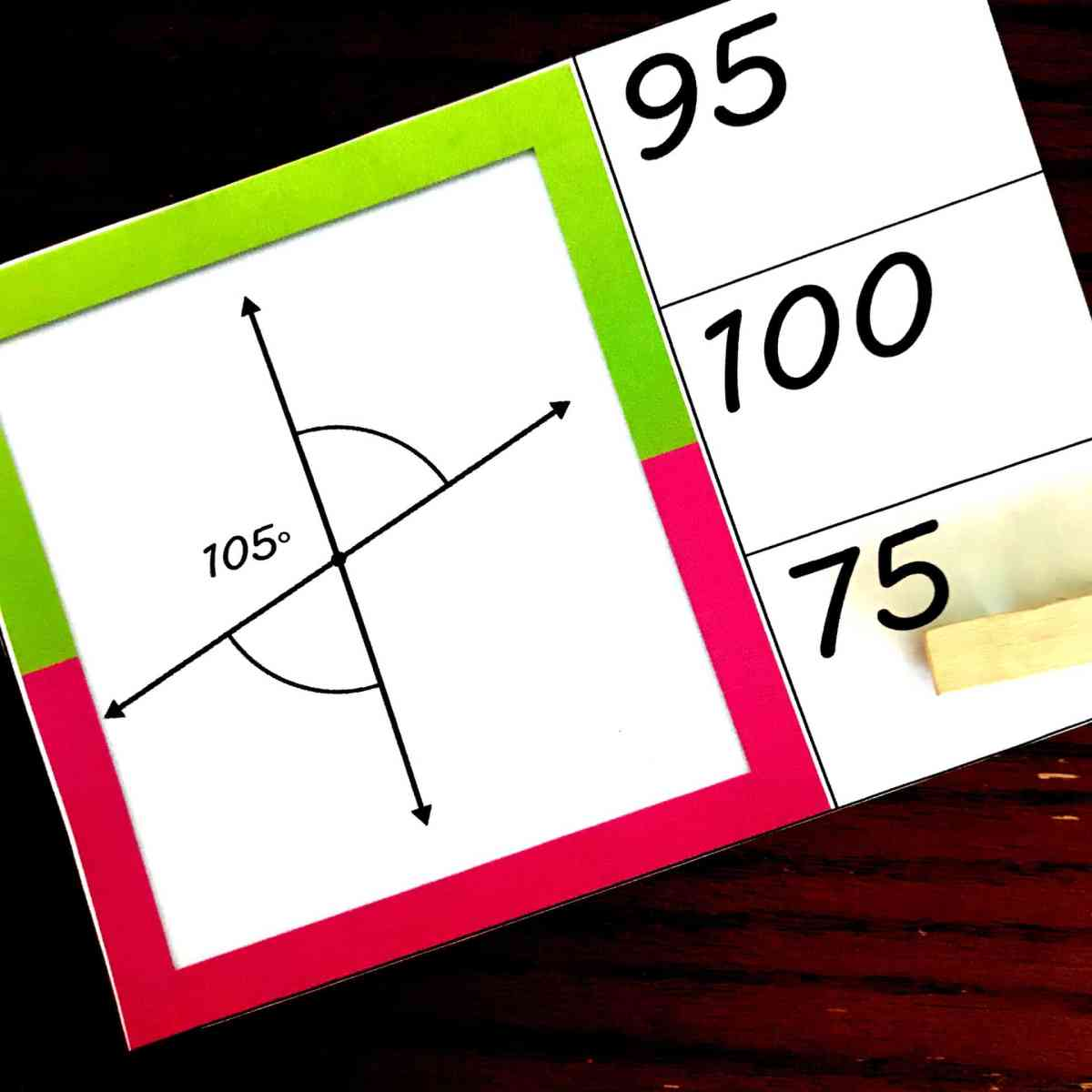 FREE Colorful Adjacent and Vertical Angle Activity with Intersecting Lines