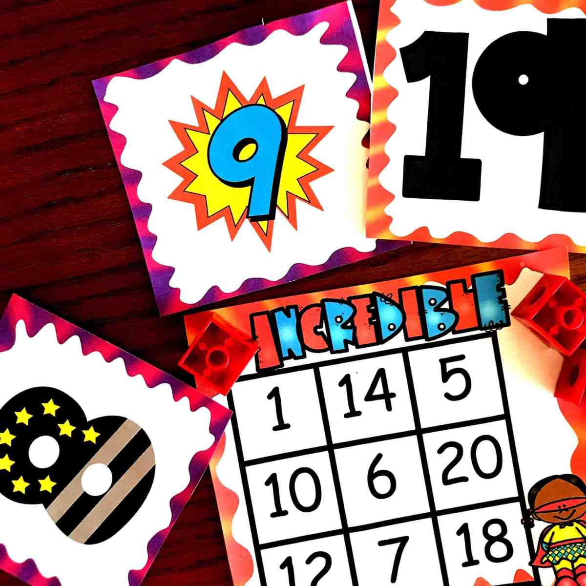FREE Number Recognition Game For the Numbers 1 - 20