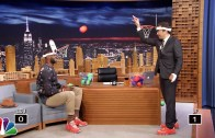 LeBron James'ten Talk Show Programında Yüz Basketbolu