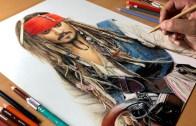 Denizlerin Hakimi Efsane Kaptan Jack Sparrow Portresi