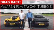 McLaren P1 ve Porsche Taycan Turbo S Kapışması