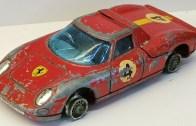 Oyuncak Ferrari Berlinetta Restorasyonu (Yeni Lastikler)