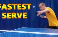 Dünyanın En Hızlı Masa Tenisi Servisi Denemeleri