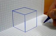 Kağıda 3D Küp Çizimi 2 Dakikanızı Alacak!