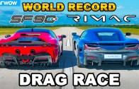 Ferrari SF90 vs Rimac Nevera Arası Kısa Mesafe Yarışı