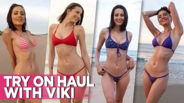 İspanyol Güzeli Viki'den Büyüleyici Bikini Performansı!