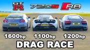 Nissan GT-R, Audi R8 ve McLaren Kapışması Karşınızda