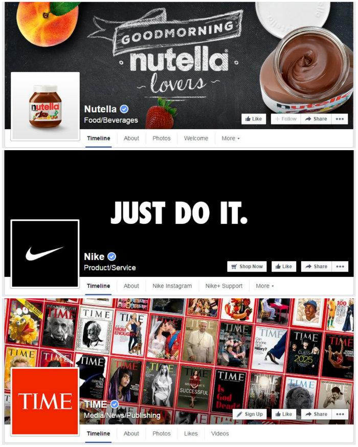collage facebook page desktop
