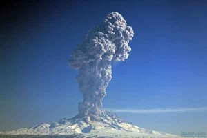 Shiveluch Volcano Ash Plume