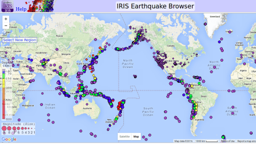 IRIS Earthquakes 04-01 to 05-13-2016