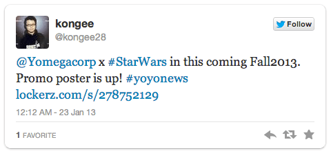 Twitter Yomega Star Wars