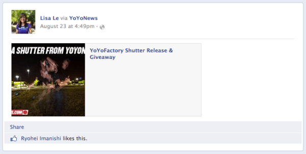 Shutter Giveaway Facebook Winner