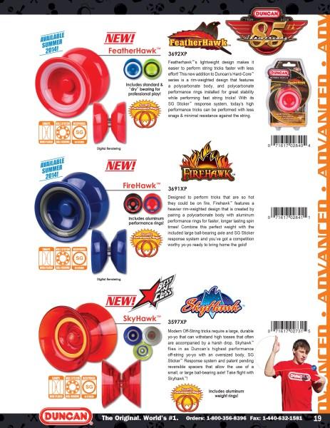 2014 Duncan Toys Catalog - Firehawk, Featherhawk, Skyhawk