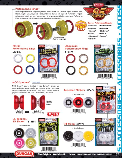 2014 Duncan Toys Catalog - Performance Rings & Mod Spacers