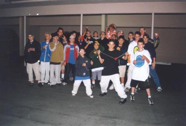 Paul Escolar, Jason Lee, Chris Neff, Steve Brown, Jeffrey Longoria, and others at BAC 2000