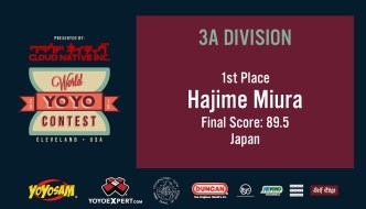 2019 World YoYo Contest – 3A Results