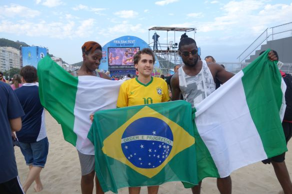 Coupe du Monde de Football: France-Nigeria au Fifa Fan Fest de Copacabana.