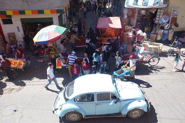 Perou-Huaraz: Le marche de Huaraz ou plutot l'un des marché car la ville en compte 3. C'est donc ici avant et apres mes visites que je passais mon temps.