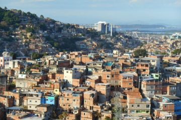 Bresil- Sao Paulo: Complexo do Alemão, vue du telepherique