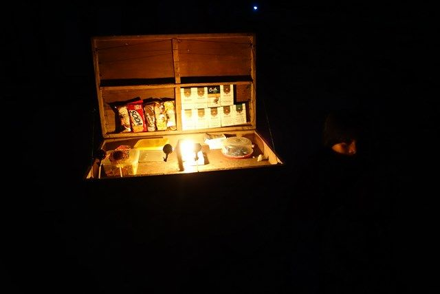 Voyage au Perou- Lagunas: Comme hier, l'electricité a coupé net! Toute la ville est dans le noir il est 20H30!