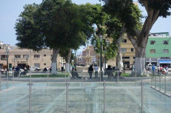 Perou- Trujillo: Certaines ruines de la ville son visible.