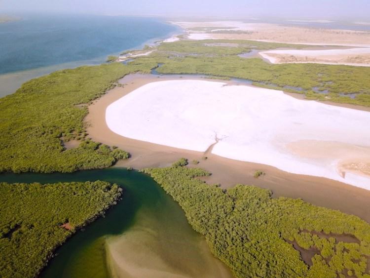 Magnifique bolong au Senegal dans la région du Sine-Saloum photo blog voyage tour du monde https://yoytourdumonde.fr