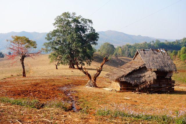 paysages magnifiques traversés dans l'etat des montagnes Shan photo blog voyage tour du monde https://yoytourdumonde.fr