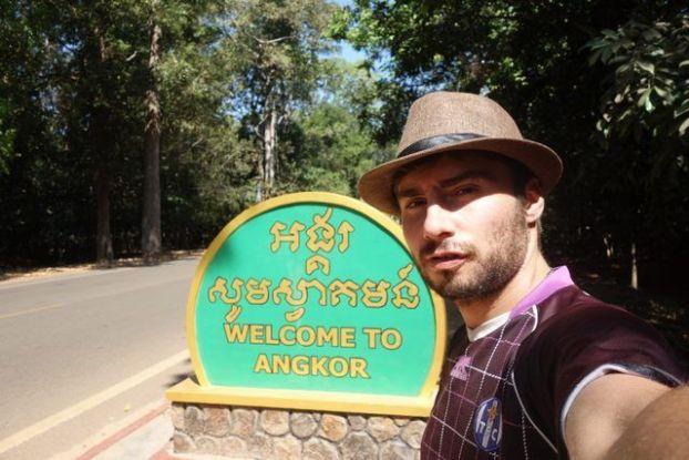 L'entrée des temples d'Angkor près de Siem Reap au Cambodge. Photo blog https://yoytourdumonde.fr