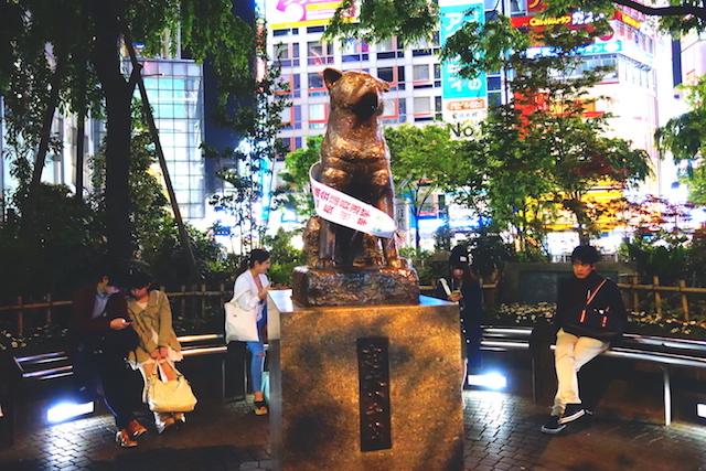 C'est dans le quartier de Shibuya que vous allez voir la statue de Hatchi dans le centre de Tokyo. Photo blog voyage tour du monde https://yoytourdumonde.fr