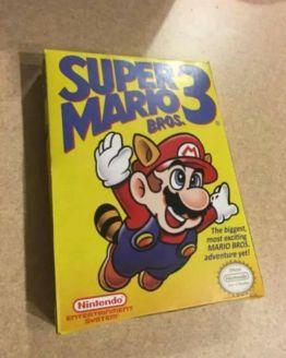 Super Mario Bros. 3 (Nintendo Entertainment System, 1990) custom box only!