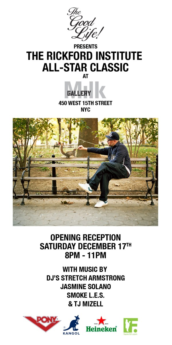 RP Flyer - The Good Life presents The Rickford Institute All-Star Classic at Milk Gallery