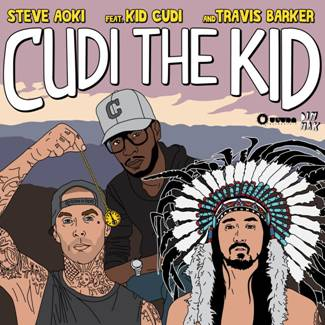 "12 - Live video of Steve Aoki and Travis Barker performing ""Cudi The Kid"""