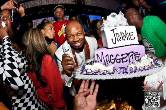 Jimmie Maggette holding AIR 540x359 - Event Recap: Jimmy Maggette Jr. Birthday Party