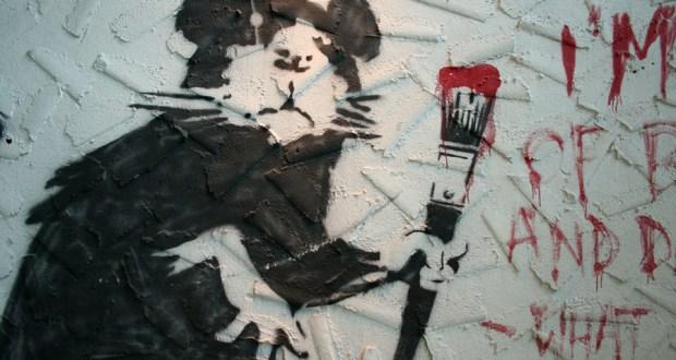 b4 - Banksy at Keszler Gallery in Southampton