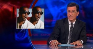 "colbert kanye west video - Stephen Colbert Clowns Kanye West's $120 ""Hip Hop T-Shirt"" w/ APC @StephenAtHome"