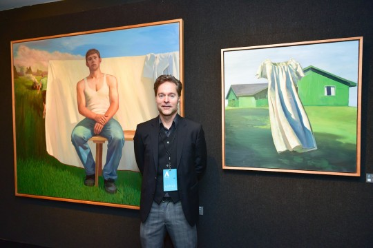 Grant Collier Credit Patrick McMullan 540x360 - Event Recap: The Accessible Art Fair New York MvVO Art VIP Opening at the National Arts Club #accafny @mvvoart @NatnlArtsClub @LawlorMedia