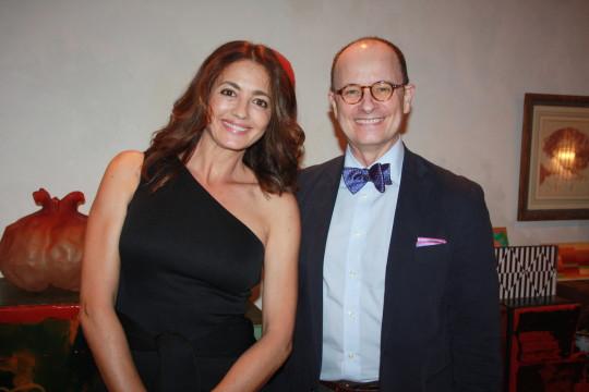 Guest and Juan José Herrera de la Muela 540x360 - Event Recap: Carmen Herrera Cocktails & Conversation @PublicolorNYC @MMViverito @The100YearsShow