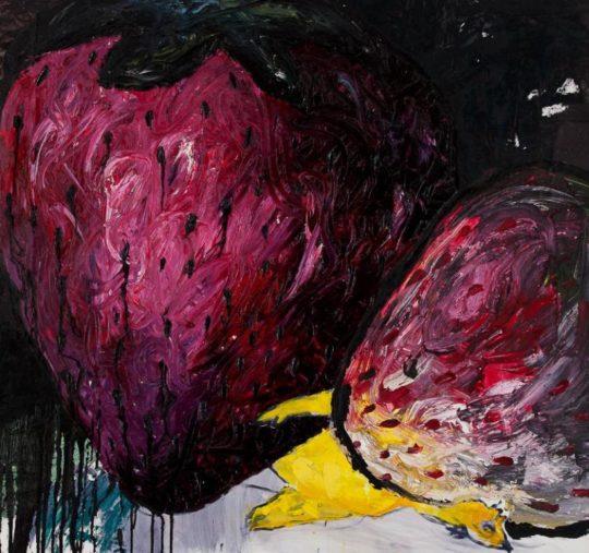 06. Ioana Olahut A chicken s nightmare II 95 x 90 cm oil on  540x507 - CON-FRONT EAST Exhibition November 4- November 26, 2017 at GALLERY RIVAA @icrny #rivaa #rooseveltisland