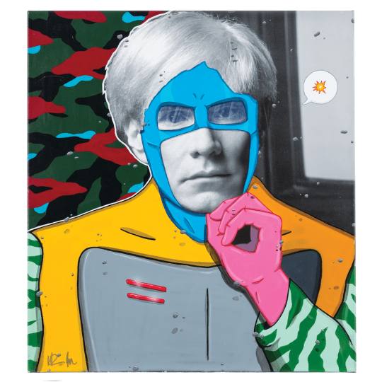 29 Madman Super Andy preview 540x540 - The Lost Warhols Exhibit by Karen Bystedt May 1-22, 2018 @karenbystedt @godslovenyc #AndyWarhol