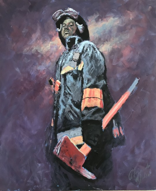 High and Mighty 540x659 - Alexander Millar's Everyday Heroes Exhibition and Pop-Up Gallery April 4 - 20th, 2018 @vscorresponding @FDNYMuseum @AlexanderMillar @FDNY