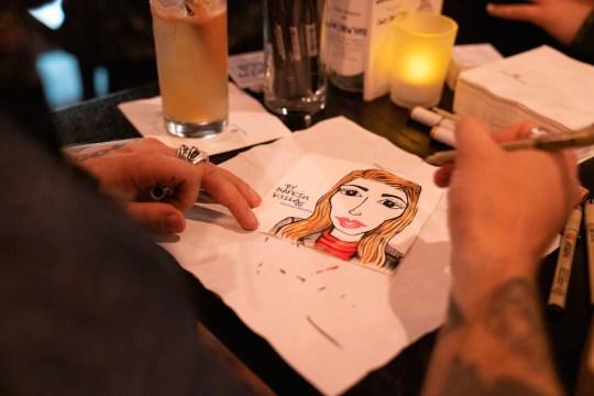 Napkin Killa at work 540x360 - Event Recap: Pernod Ricard Art Battle @ournewyorkvodka @PernodricardUSA @NapkinKilla