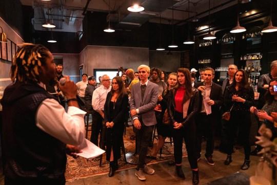 Tavarus Hogan Pernod Ricard kicks off the battle 540x360 - Event Recap: Pernod Ricard Art Battle @ournewyorkvodka @PernodricardUSA @NapkinKilla