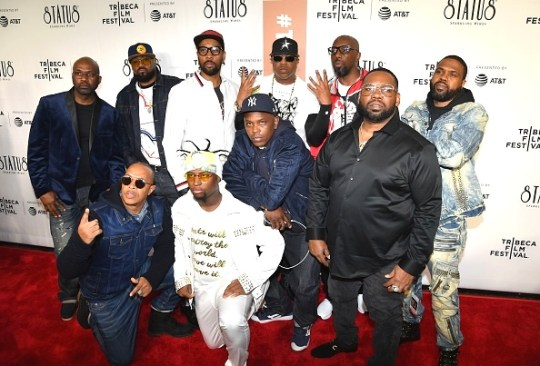 Wu Tang Clan band members pose at the New York premiere of Showtimes Wu Tang Clan Of Mics And Men as part of the Tribeca Film Festival at Beacon Theatre. Photo ANGELA WEISS AFP Getty Images 1 540x366 - Wu-Tang Clan: Of Mics and Men Interview by Jonn Nubian @wutangclan #SachaJenkins #Tribeca2019 #OfMicsandMen
